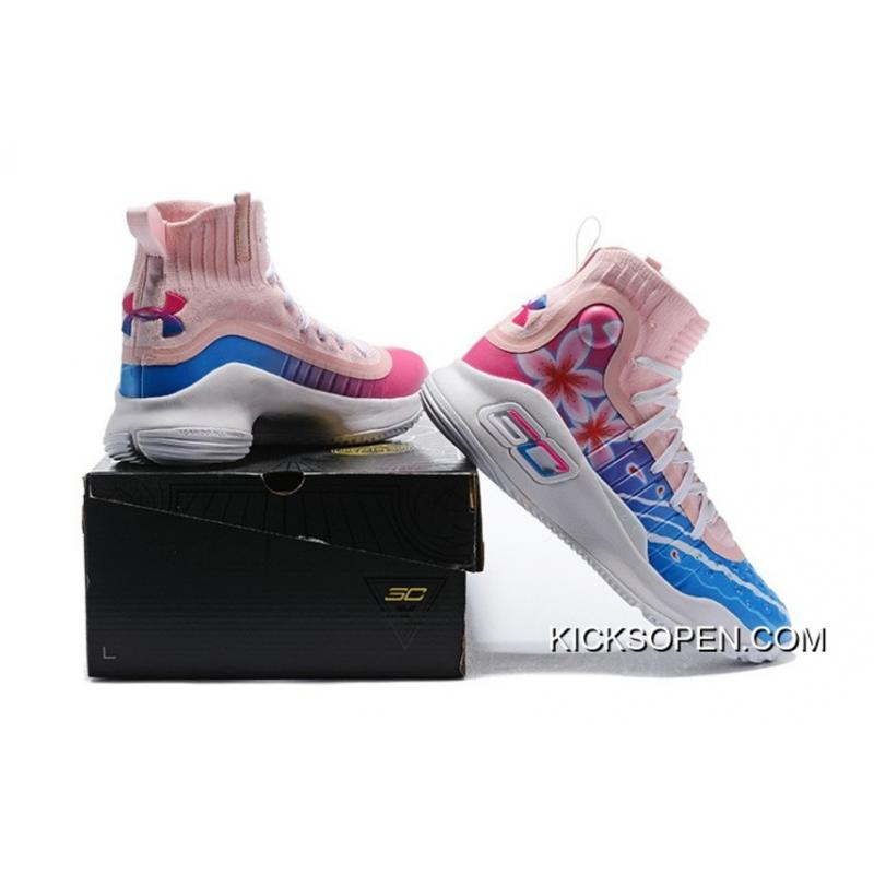 22a3933abd1 ... switzerland online under armour curry 4 floral white pink blue 013f5  ce58a