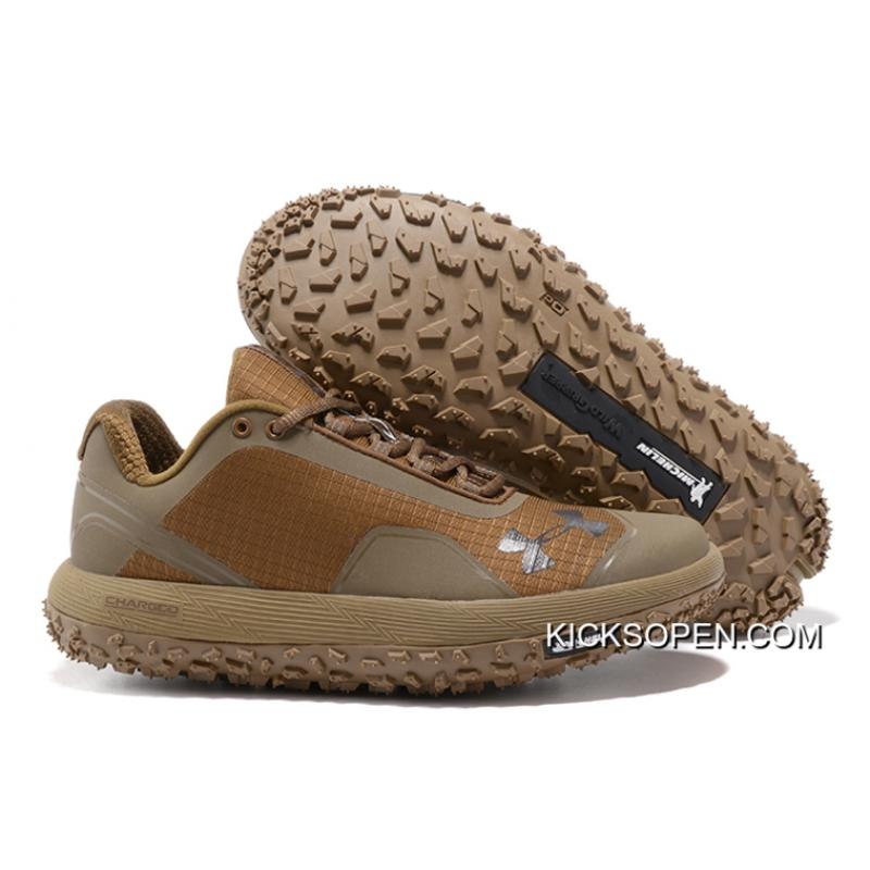 """outlet store 06e51 e5523 Free Shipping Under Armour Fat Tire Low """"Brown"""" Running Shoes"""