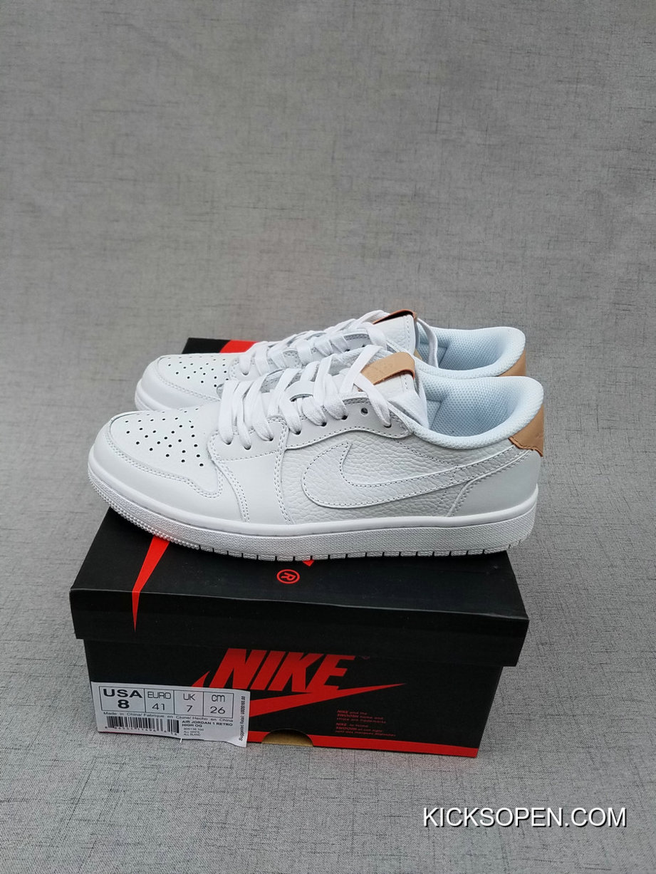 c592b25ade0d27 Discount Air Jordan 1 Retro Low OG Premium White Vachetta Tan-White ...
