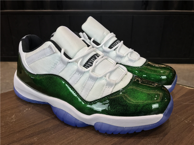 "d657f0983fd0a Super Deals Air Jordan 11 Low ""Easter"" White Emerald Rise-Black ..."