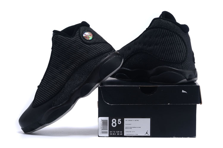4ffd38624c908c New Air Jordan 13 All Black Grey Outlet