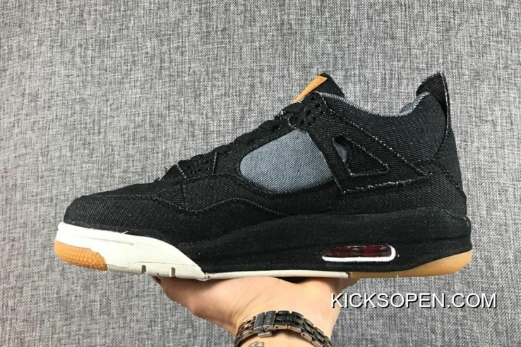 quality design 61f59 fab5c Best Levi s Air Jordan 4 Black Denim