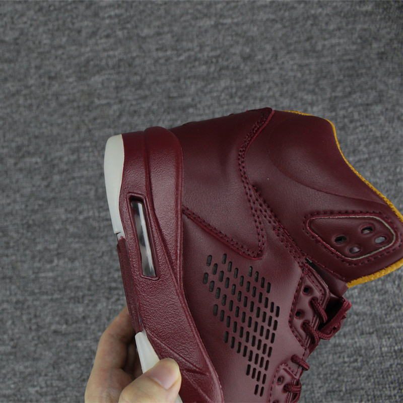 "hot sale online cf084 d964c Top Deals Air Jordan 5 Premium ""Wine"" Bordeaux"