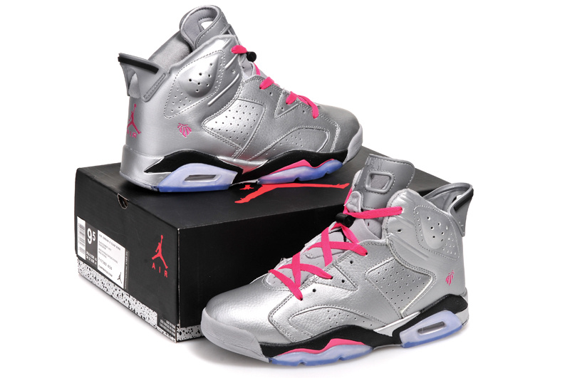 "c4bf5339ac39 New Style New Air Jordan 6 Retro ""Valentines Day"" Metallic Silver Vivid  Pink-Black"