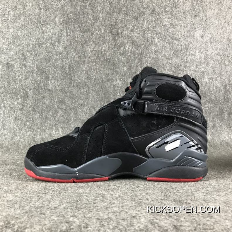 "09f7930fae43e0 Air Jordan 8 ""Cement"" Black Gym Red-Black-Wolf Grey Where To Buy ..."