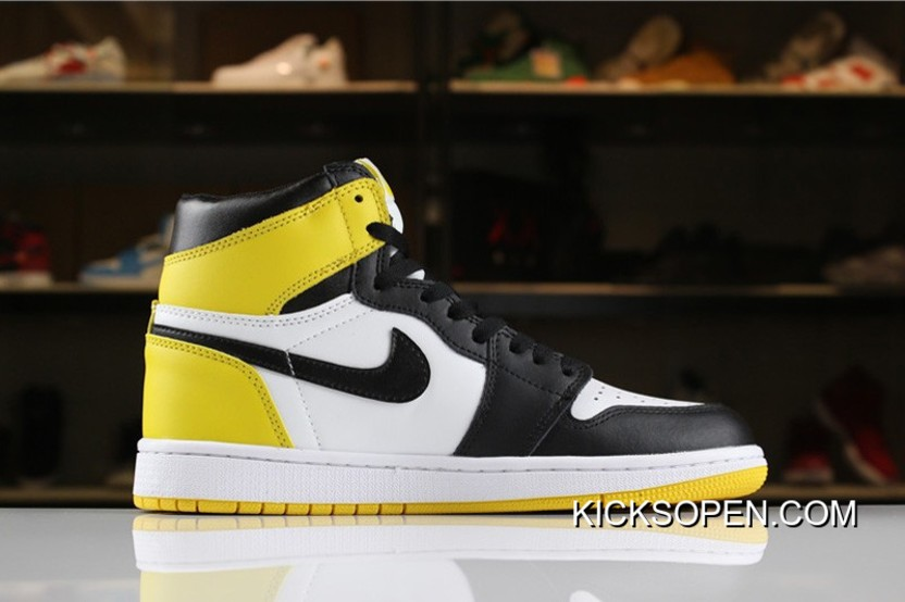 "e30f300f7f82 Air Jordan 1 Retro High OG ""Yellow Ochre"" Summit White Black-Yellow ..."