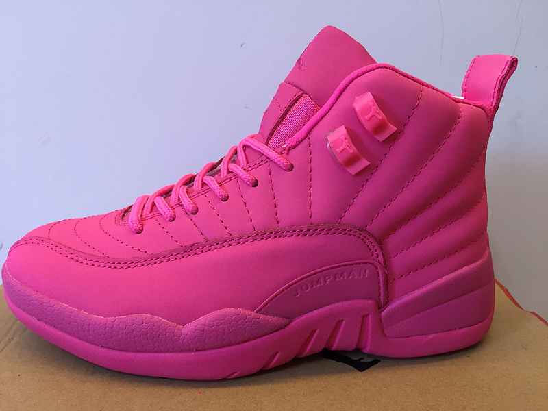 452b18249fc1 Discount New Air Jordan 12 GS All Pink Shoes