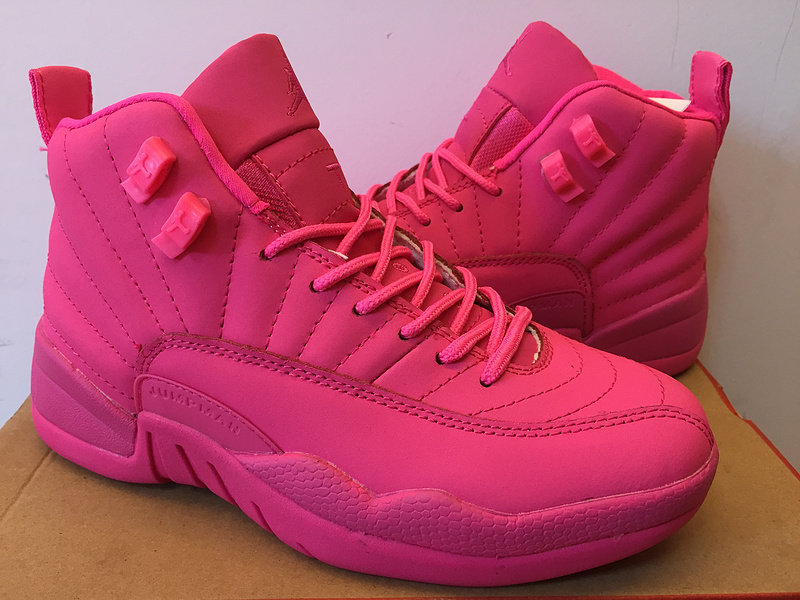 9e0678751ab Discount New Air Jordan 12 GS All Pink Shoes, Price: $87.01 ...