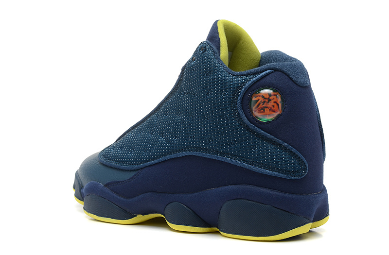 New Air Jordan 13 Retro Squadron Blue Electric Yellow-Black For Sale ... 5970941d2