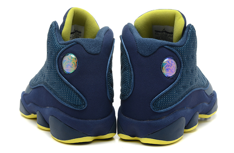 dd1e30adec4243 New Air Jordan 13 Retro Squadron Blue Electric Yellow-Black For Sale ...