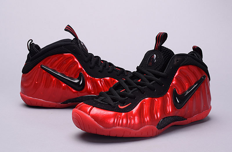 lowest price 26a0f 0a861 Online Girls Nike Air Foamposite Pro GS Varsity Red Black
