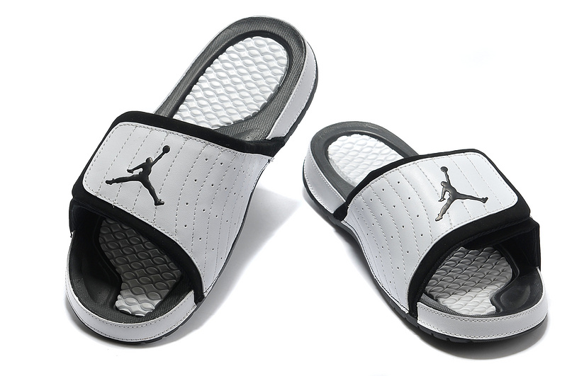 71289b27f284 Air Jordan Hydro 14 White Black Slide Slippers New Year Deals