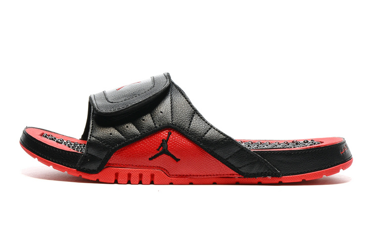 f3059db6cc9773 Copuon Jordan Hydro 12 Slide Sandals Black Red