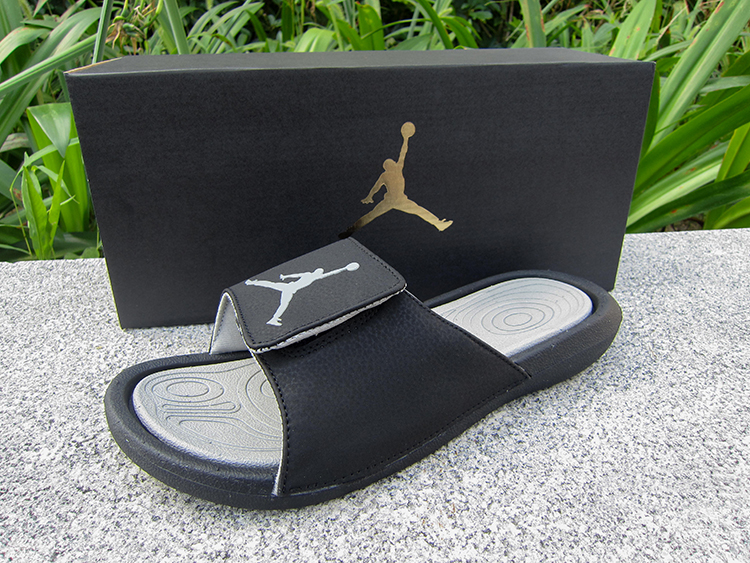 84f5aef38c7fac Air Jordan Hydro 6 Sandals Black Grey New Style