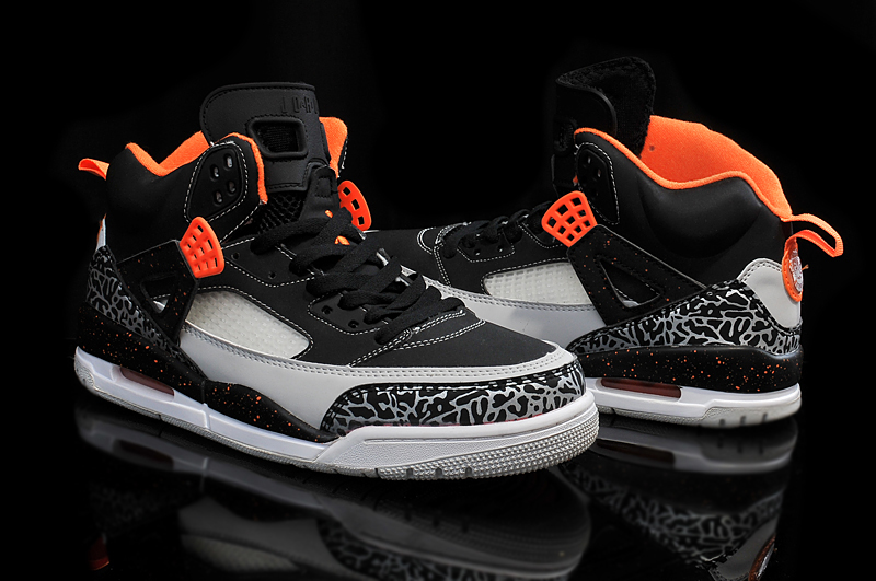new product 463a9 b541e air jordan spizike bg electric orange 2  best new jordan spizike black  electro orange cool grey