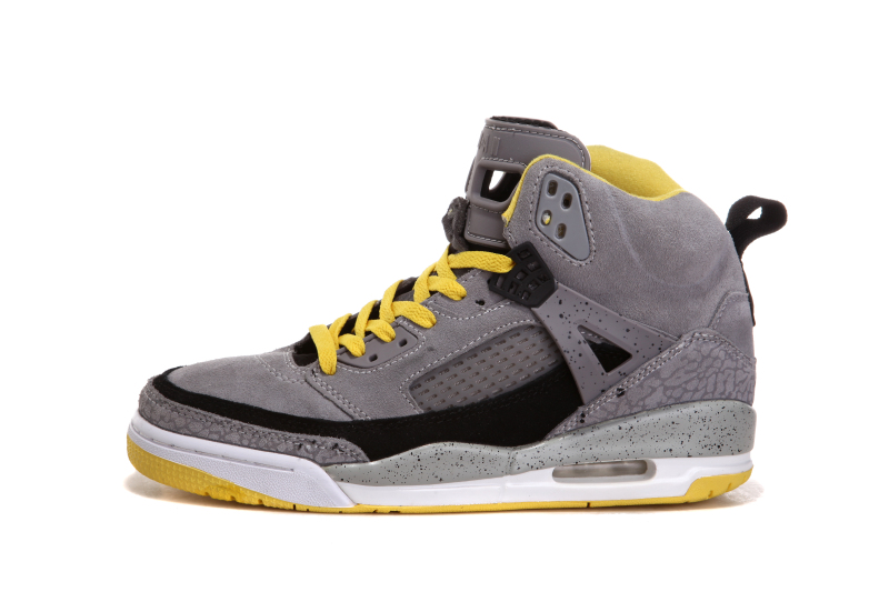 "Copuon New Jordan Spizike ""Cement   Nubuck"" Grey Yellow-Black 707dbbf52"