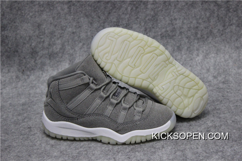 "buy popular 8d4e0 bca4b Kids Air Jordan 11 ""Grey Suede"" Big Deals"