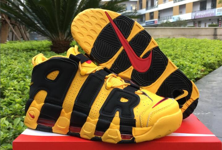 "newest d0b47 b12e3 Bruce Lee Nike Air More Uptempo ""Kill Bill"" Black/Yellow For Sale ..."