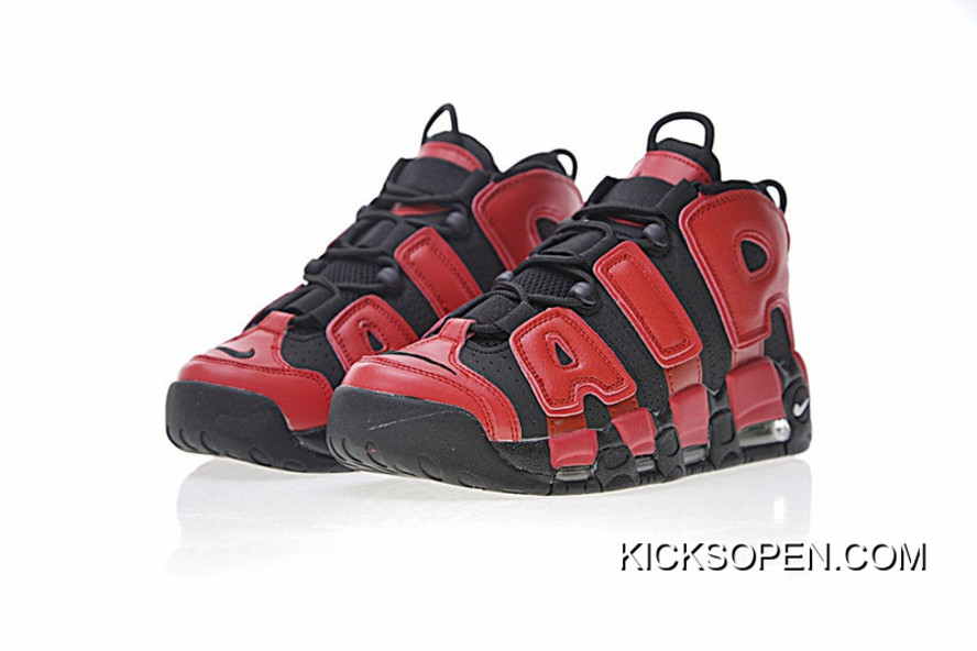 Nike Air More Uptempo QS Black Red 819151-001 New Release d477d82dba29