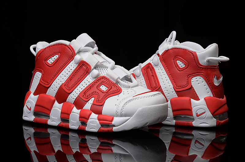 Nike Air More Uptempo White Gym Red Discount ab6239505a