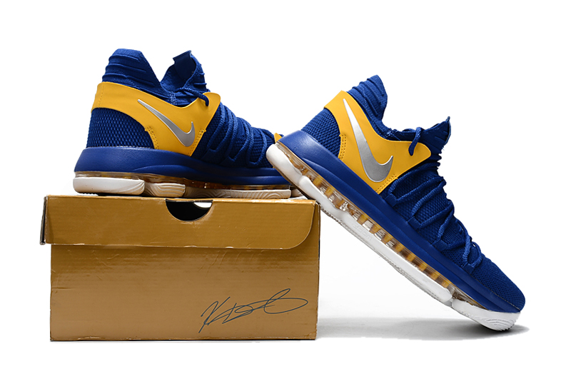 "huge discount cb100 5a4a7 Nike KD 10 ""Golden State Warriors"" Blue Yellow-White For Sale"