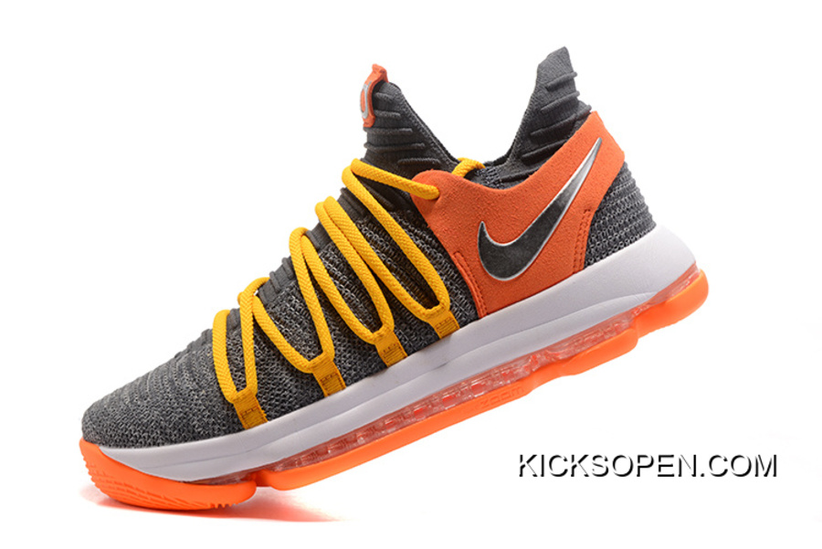 9ae18a904c78 Nike KD 10 EP Cool Grey Orange For Sale