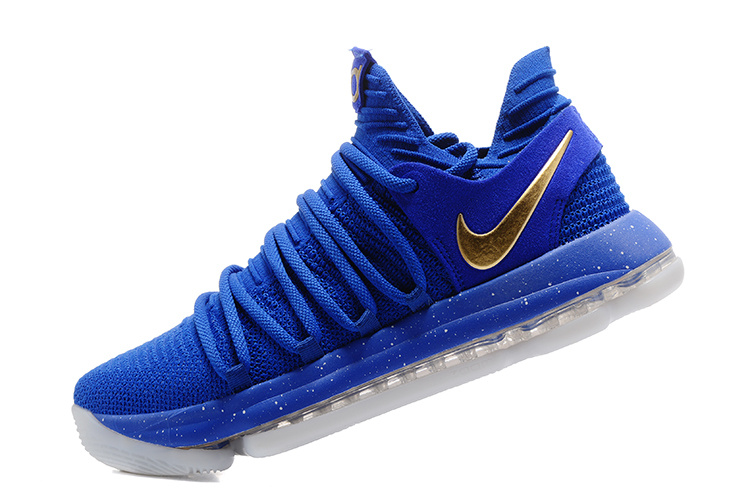 release date b2754 f2d0d Latest Nike KD 10 Finals PE Blue Gold