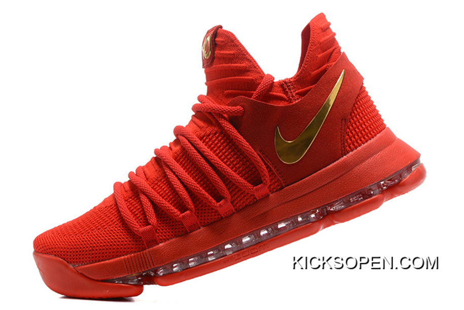 hot sale online 2922c 94cb8 Online Nike KD 10 Gym Red Gold