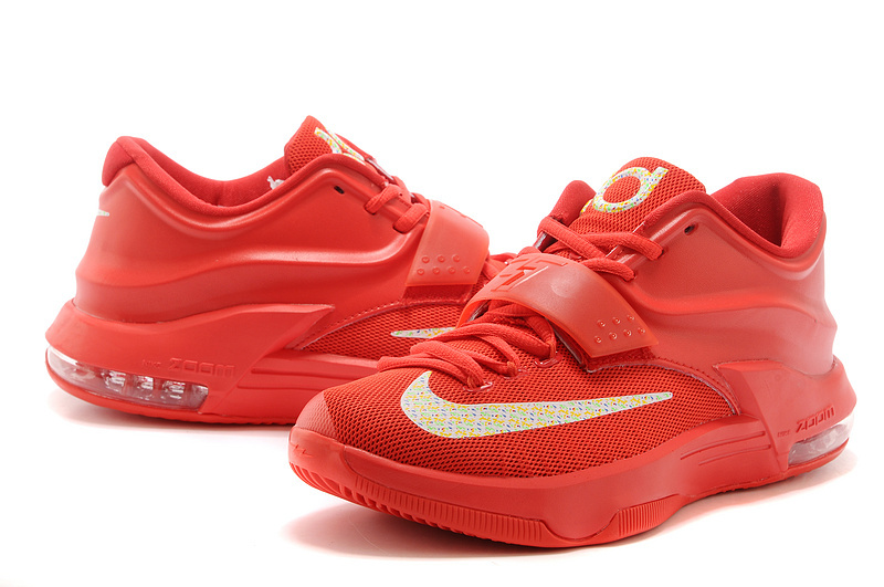 """official photos 46627 78b1b Nike Kevin Durant KD 7 VII """"Global Game"""" Action Red/Metallic Silver Best"""