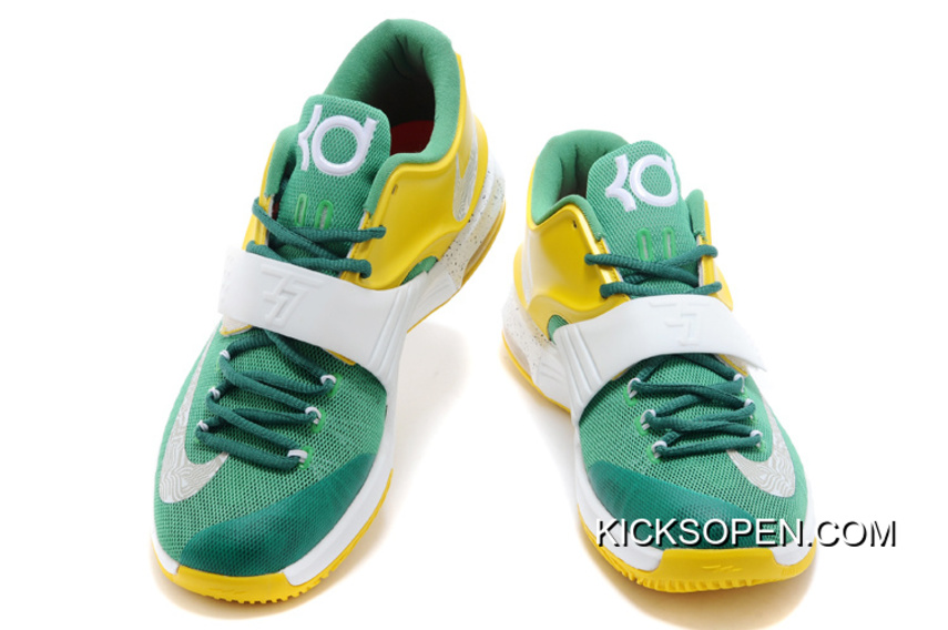 """check out af91e a9ca9 Nike Kevin Durant KD 7 VII """"Draft Day"""" Apple Green Yellow Strike-"""