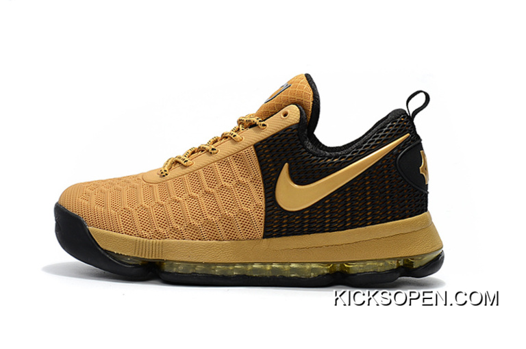 quality design 4ab5a 80d61 Super Deals Nike KD 9 Black Golden Basketball Shoes
