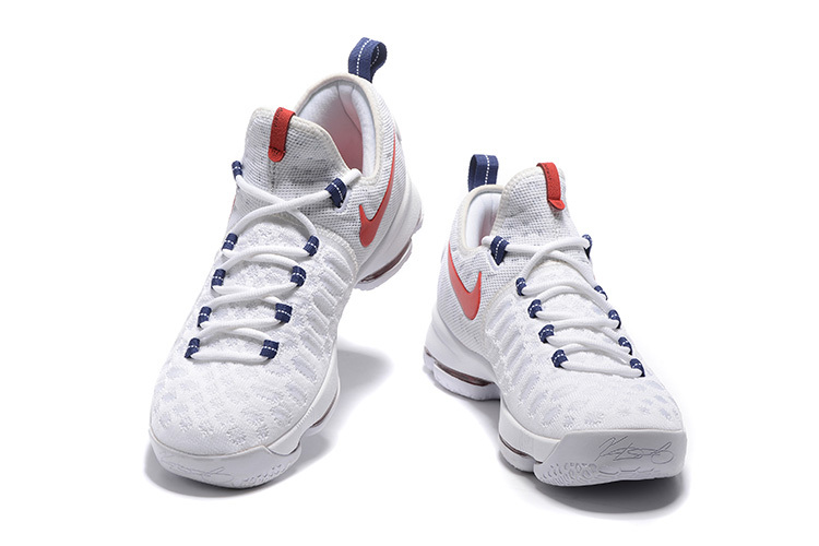 "fae64039290 New Style Nike KD 9 ""USA"" White University Red-Race Blue"
