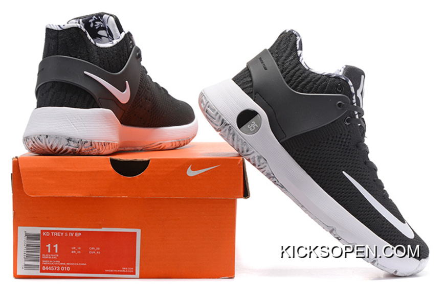 "8341671555e0 Top Deals Nike KD Trey 5 Knit ""BHM"" Black White"