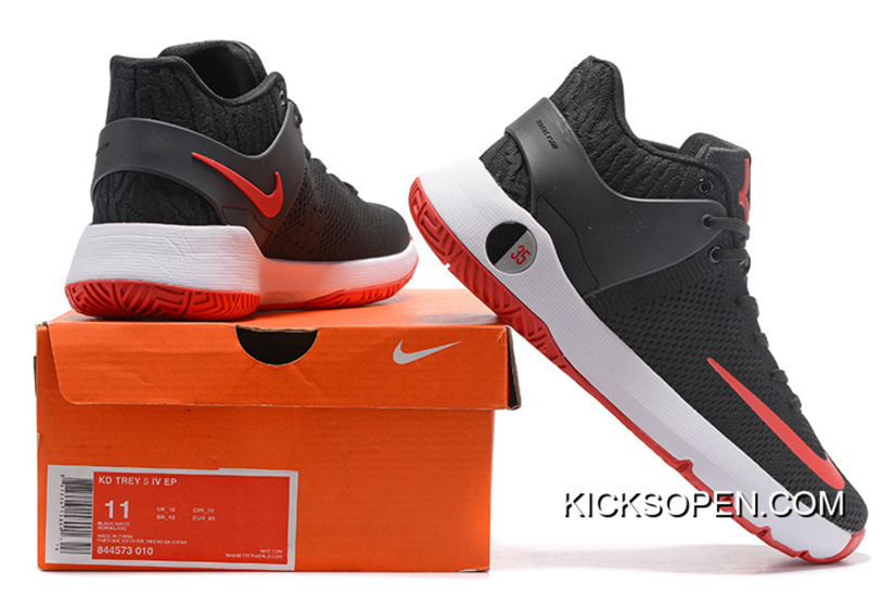 "online retailer d8bdf 1237b Nike KD Trey 5 Knit ""Bred"" Black Red White Discount"