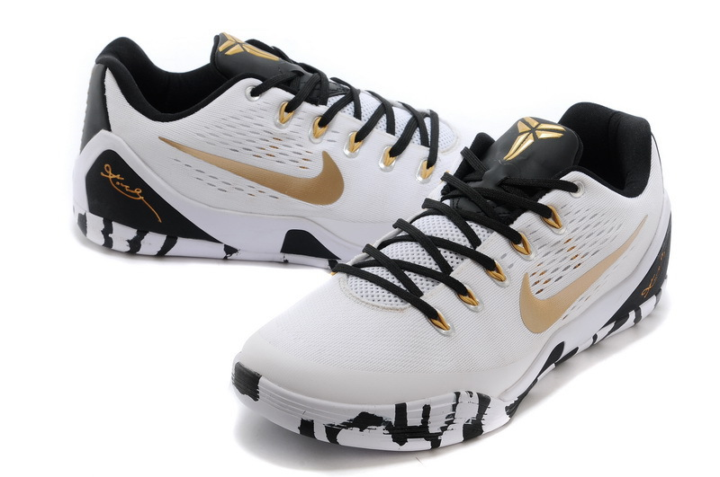 hot sale online 8d15f 38ac7 Nike Kobe 9 Low EM XDR White Black Gold New Year Deals