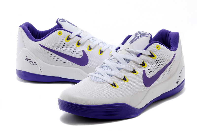 "half off 76ca1 67e9c Best Nike Kobe 9 EM ""Home"" White Court Purple"