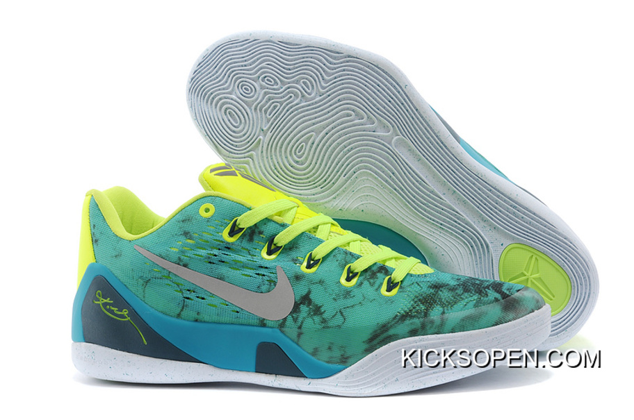 "wholesale dealer 00283 f478c Nike Kobe 9 EM ""Easter"" Turbo Green Metallic Silver-Volt-Black"