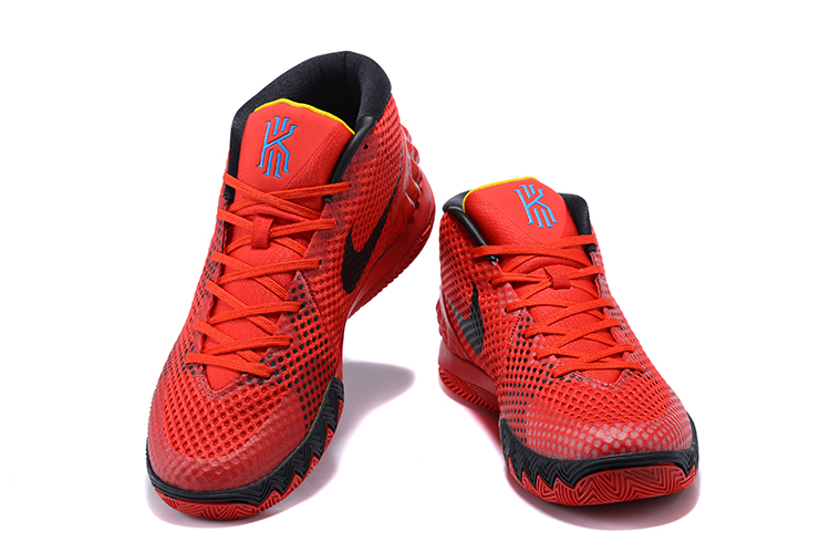 """new style 1f6a3 bd448 Nike Kyrie 1 """"Deceptive Red"""" Bright Crimson Black-University Red-Blue"""