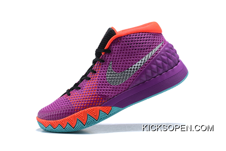 "86bed38bc60b Outlet Nike Kyrie 1 ""Easter"" Medium Berry Metallic Silver-Hot Lava ..."