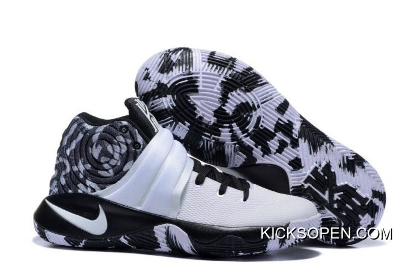 66771829e169 New Year Deals Nike Kyrie 2 Black White Basketball Shoes
