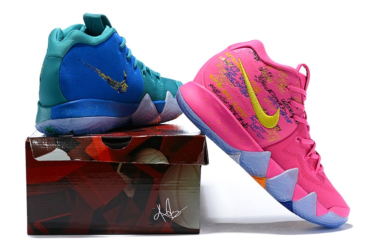 "477d1c7c5d0c Copuon Nike Kyrie 4 ""What The"" Pink Teal Christmas"