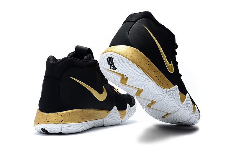 cheap for discount c3dd1 58d60 Nike Kyrie 4 Black Gold White New Style