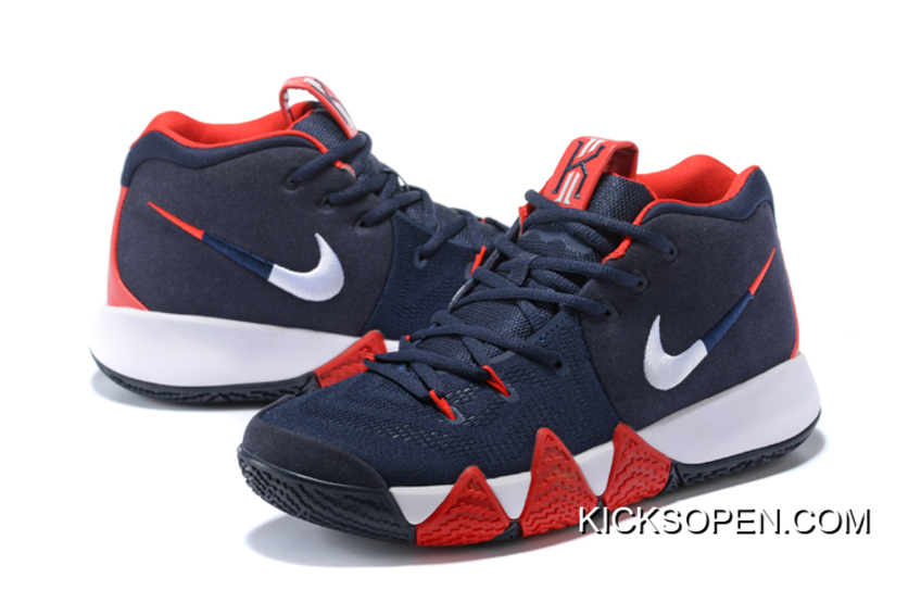 """huge selection of ff2ca e6736 New Release Nike Kyrie 4 """"USA"""" Navy Blue/White-Red"""