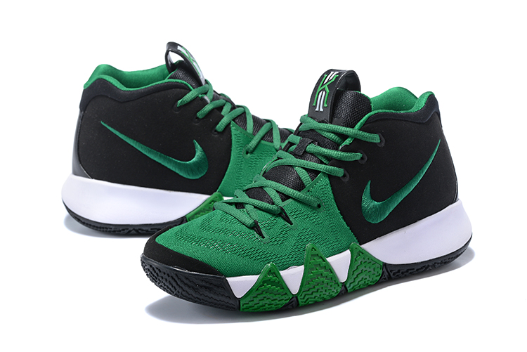 super popular 08b57 2ca09 Nike Kyrie 4 Black Green-White New Style