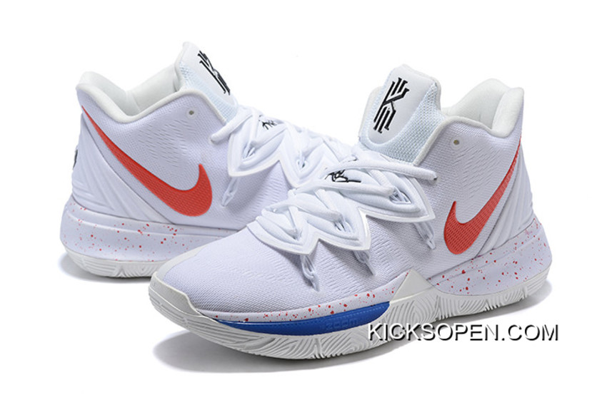 02182c15c142 Super Deals Nike Kyrie 5 Uconn PE White Red-Blue