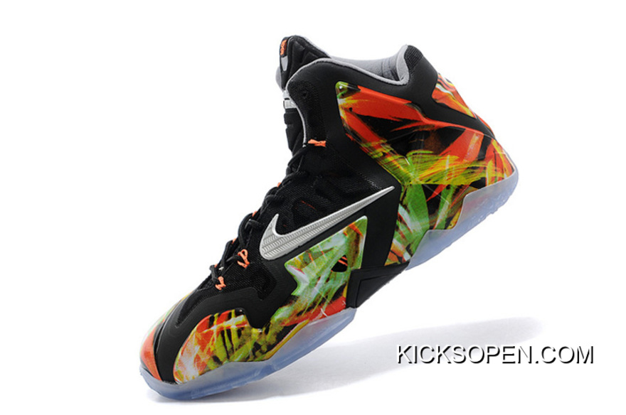 "b933038f2079 Outlet Nike LeBron 11 ""Everglades"" Black Metallic Silver-Wolf Grey-Atomic"