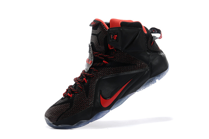 differently 2a571 ffbdd ... hot nike lebron 12 black red new release 365cf 92c62