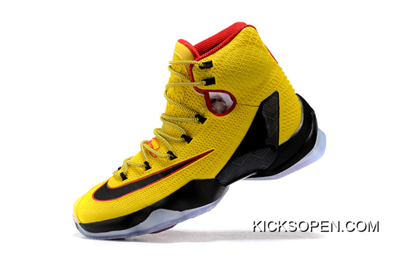 406ff61188b Nike LeBron 13 Elite Yellow Black-Red Copuon
