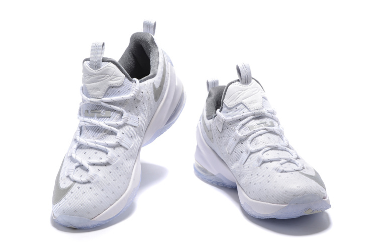 6025f187980 Outlet Nike LeBron 13 Low White Silver