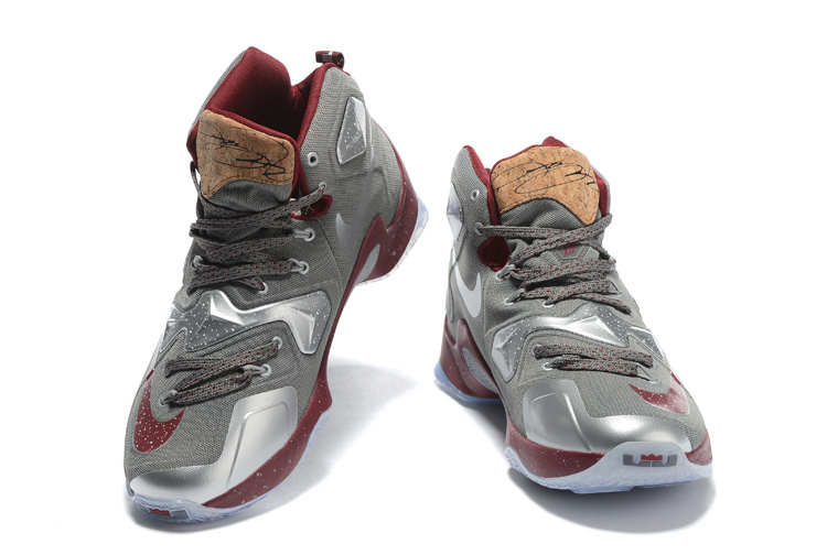 """283d1f8dae5a7 Online Nike LeBron 13 """"Opening Night"""" Fine Wine Wolf Grey Basketball Shoes"""
